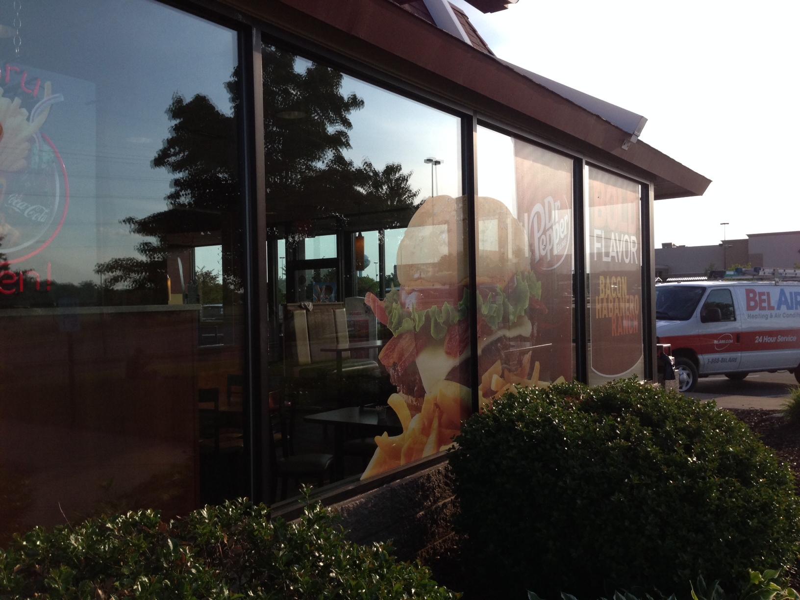 McDonalds store front signage.