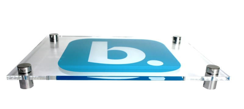 acryulic signage printing standoffs