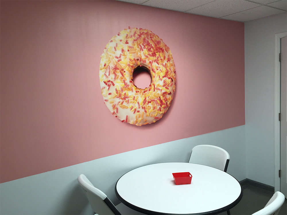 Adhesive Vinyl Wall Wrap Finished and Installed