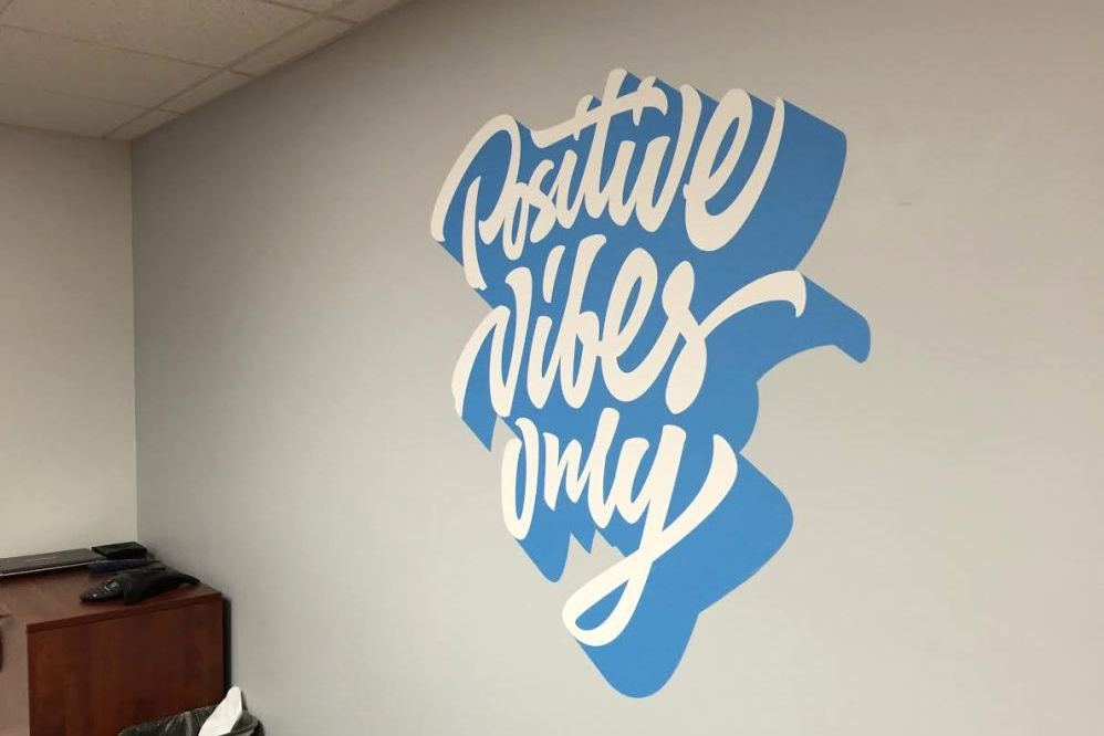 Contour Cut Wall Wrap for Conference Room