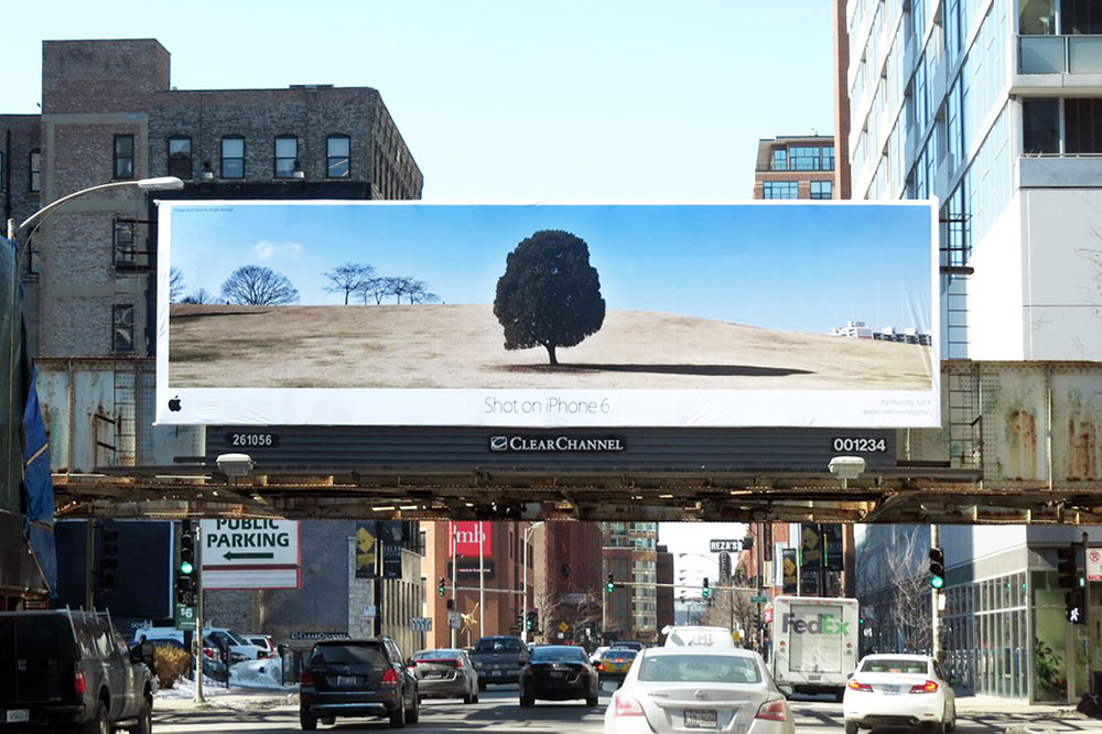 Printed billboard of Apple World Gallery Image