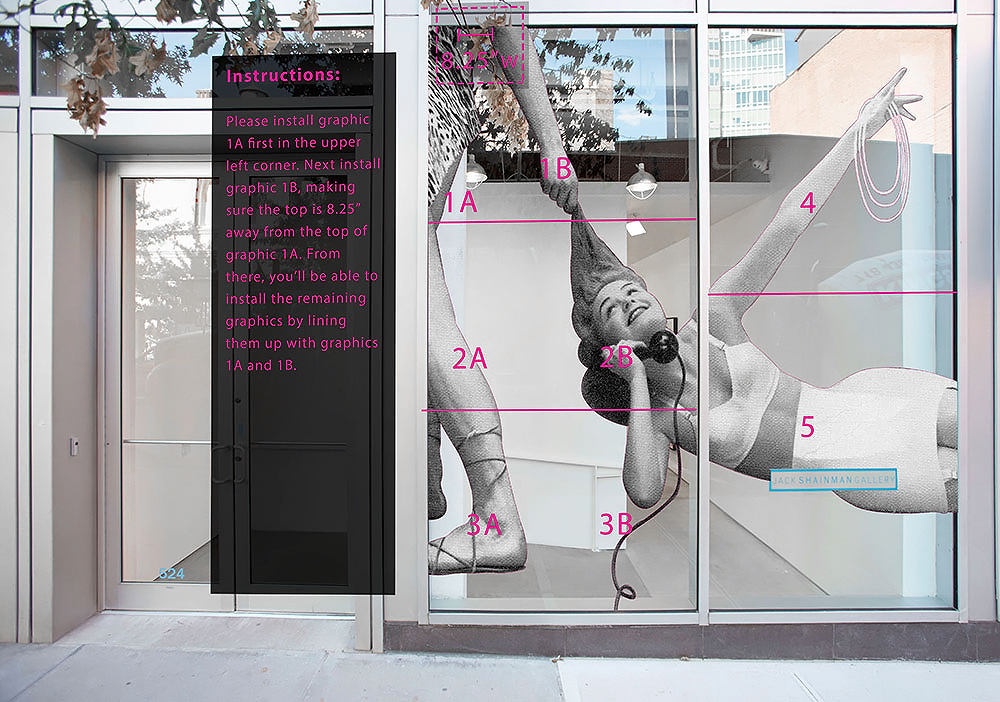 concept for storefront window signage design NYC gallery