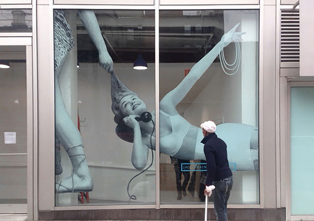 nyc art gallery windows decor printing vinyl signage