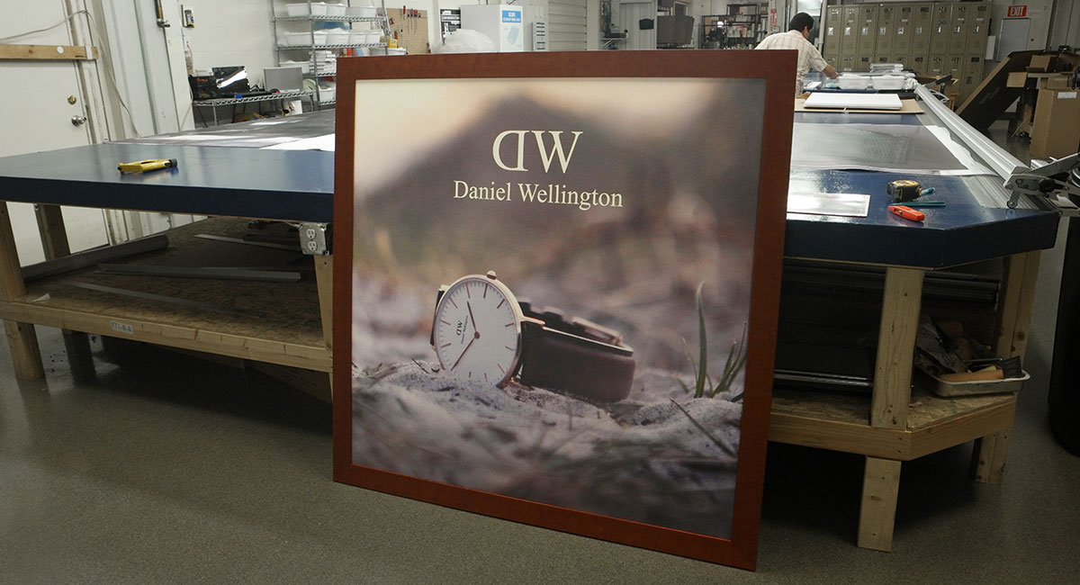 Printed and framed decor for Daniel Wellington