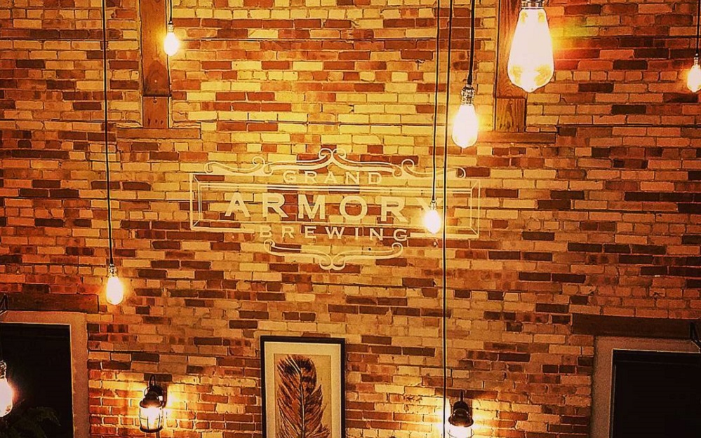 Grand Armory Brewing Company Adhesive Vinyl Brick Wrap Graphic