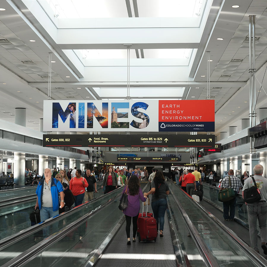 Airport Signage SEG Fabric and Frames Display Denver International Airport