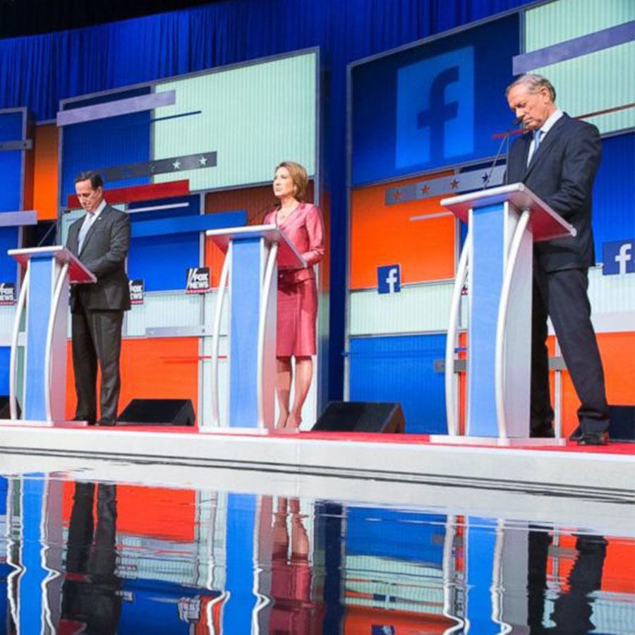 SEG Fabric Backdrop Republican Debate TV backdrop
