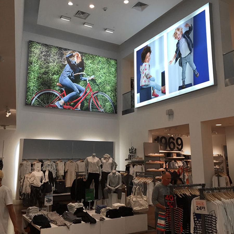 SEG Fabric Light Boxes & Backlit Fabric Signage at Gap Store