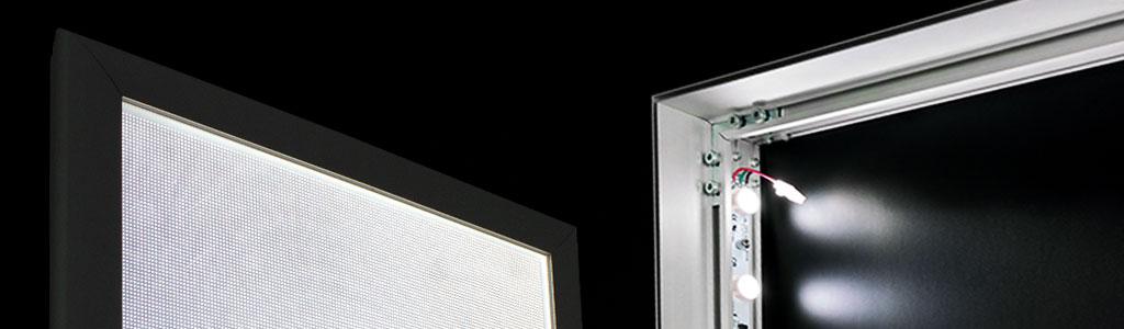 SEG ultra thin light boxes LED duratrans fabric silicone edge