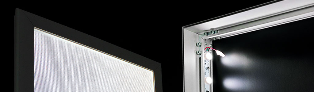 SEG ultra thin light boxes LED duratrans fabric silicone edge