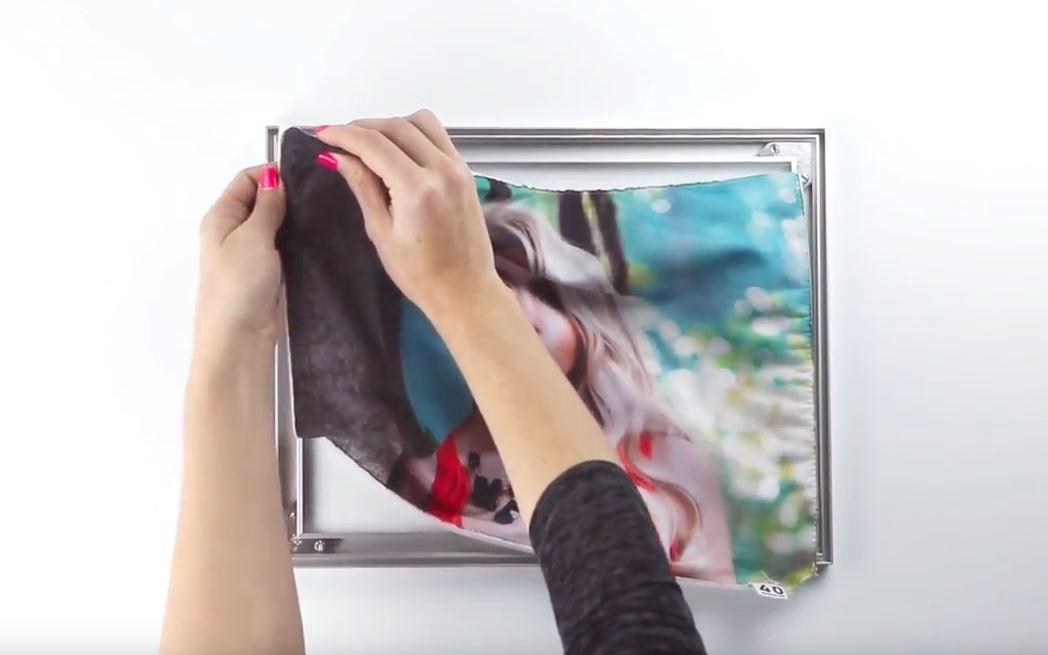 SEG Frame Framed Fabric Silicone Assembly Display Visuals