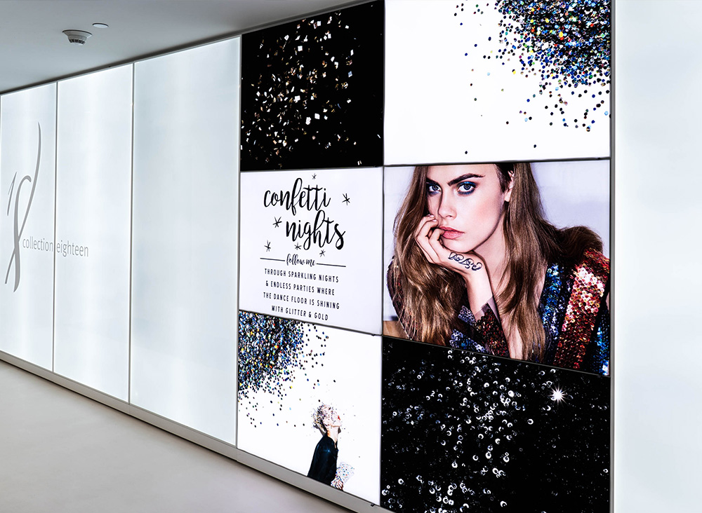 Frameless SEG Lightboxes SEG Lightbox backlit retail display silicone edge graphic design single-sided manufacturing light Backlit lightbox lightbar aluminum Visuals Fabric tension Frame Silicone Graphics Merchandising Visual Design Marketing Advertising