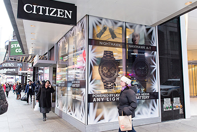 Window Signage Application Glass Window Decal Window Graphics Adhesive Sticker Display Retail window glass Visual Merchandising Applications See-Through Material Removable Repositionable display