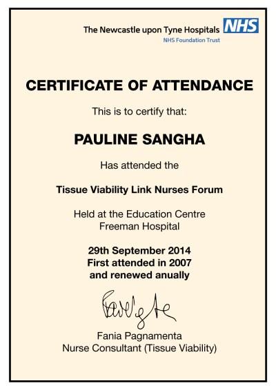 Tissue Viability Certificate