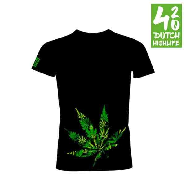 420 Dutch Highlife T-shirt Big Weed Heren voorkant