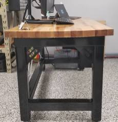 Custom Steel and Wood Desk
