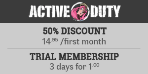50% OFF at Active Duty