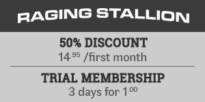 50% OFF at Raging Stallion