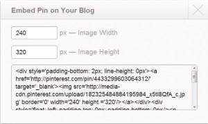Een afbeelding van Pinterest embedden in je blog.