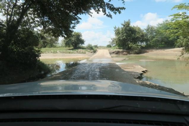 Road flooding after sudden rain.