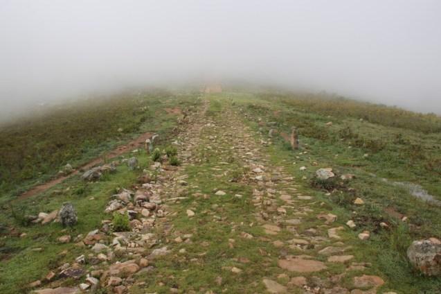 Path through the ruins.