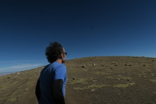 Don takes in the view at the base of Chacaltaya.