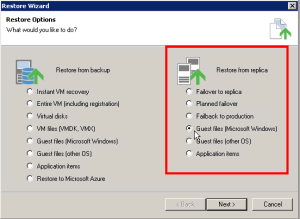Veeam - Restore from replica 02