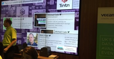 VeeamOn London - Twitter Wall