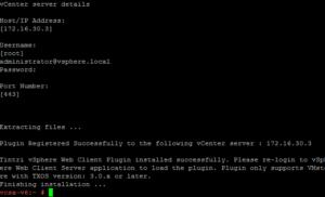Running the Tintri vCenter Plugin install