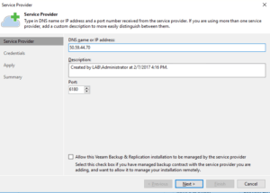 Veeam Cloud Connect - Service Provider Setup 01