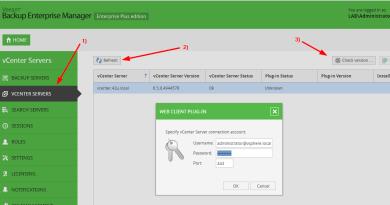 Veeam Enterprise Manager - Add vCenter
