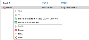 Veeam for Microsoft Office 365 - Proxy Is Not Available