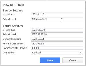 NAKIVO Re-IP Rules
