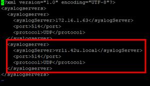 NSX-V syslog config file