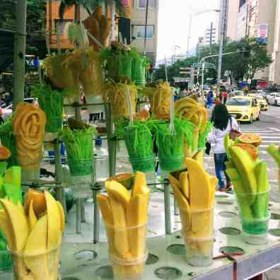 Fruit stand in Medellin, must see Colombia