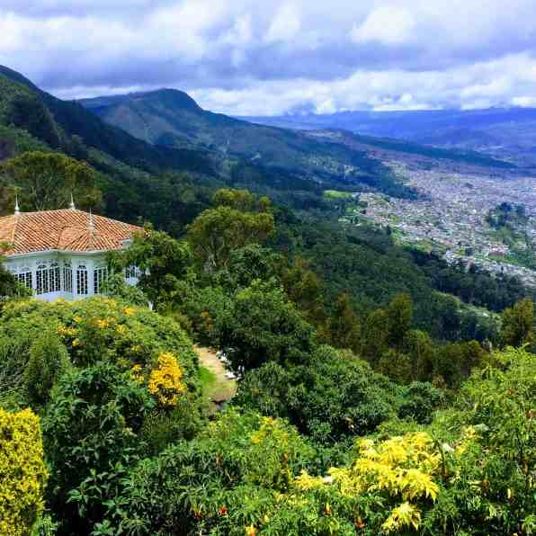 View from Monsarate in Bogata must see Colombia