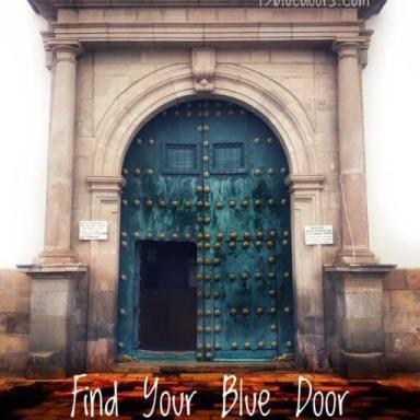 Blue door in Bolivia