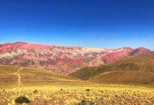 Fourteen colored mountain, colors of freedom