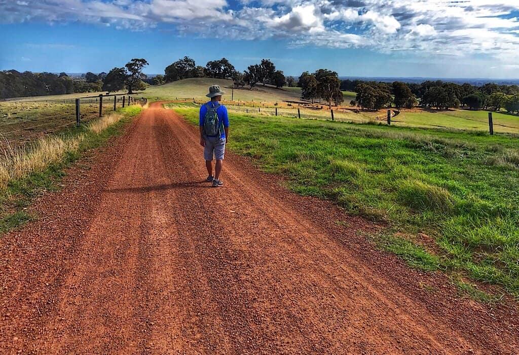 A dirt road in Burekup Western Australia