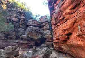 Trin on the trail in Kilbarri