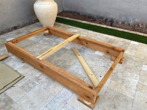 Frame of bed for our Mazda 5 for van life