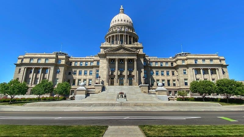 The Boise state capital building