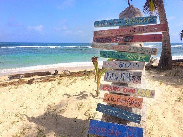 Navigation sign on Corn Island