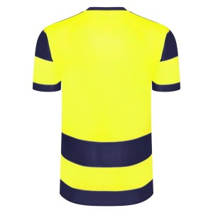Umbro Triumph SS TW Navy / Safety Yellow Back