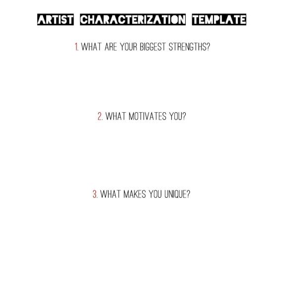 Artist Characterization Template