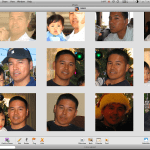 iPhoto understands faces even from different angles