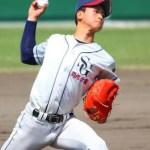 関根学園(新潟)の中村投手がジームスのグラブを愛用!
