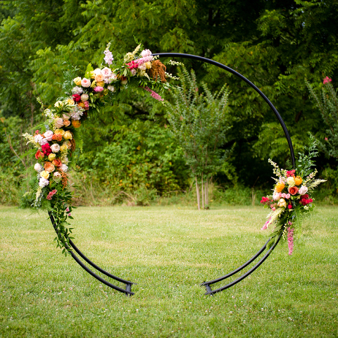 A Floral Moon Gate For Wedding Ceremonies Northern