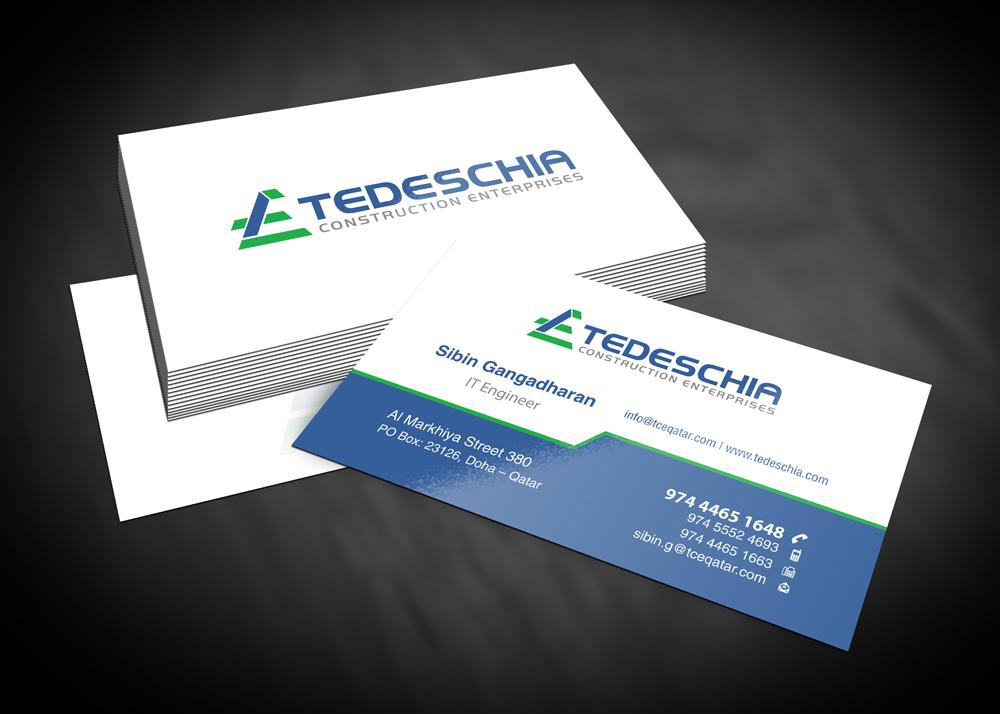 Tedeschia Construction Enterprises logo design  48HoursLogocom