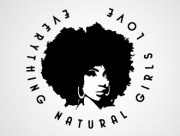 afro girl logo design